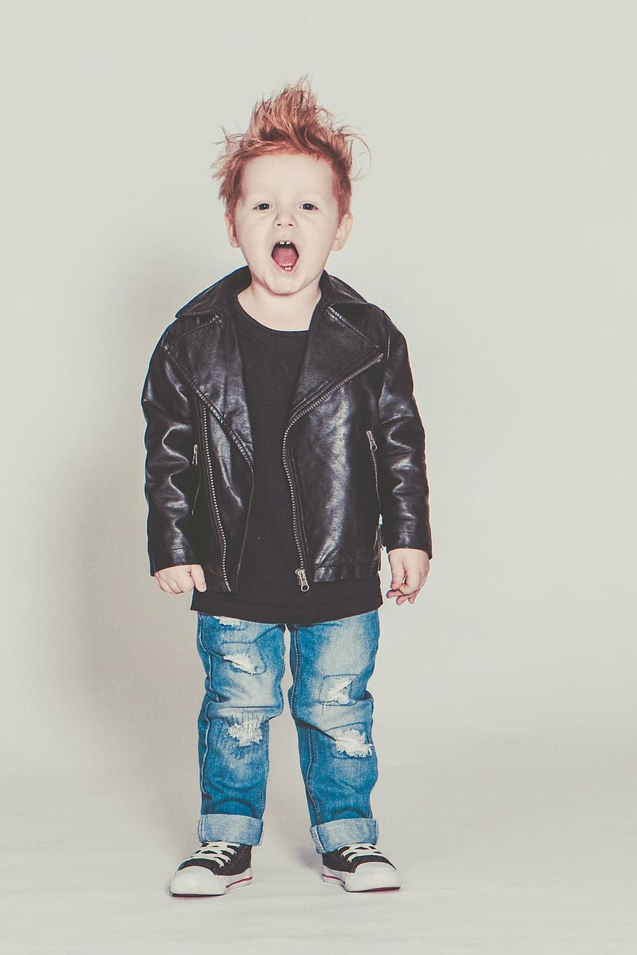 Cool Boys Kids Leather Coat