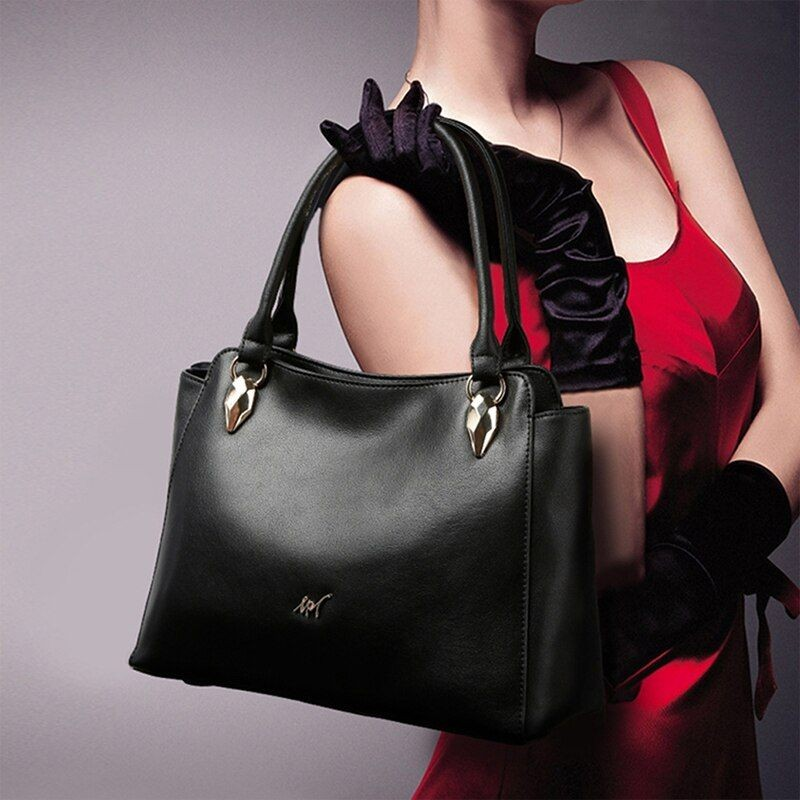 Female Split Leather Tote Bag