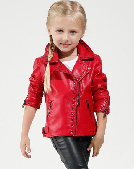 Girl-red-Leather-Coat