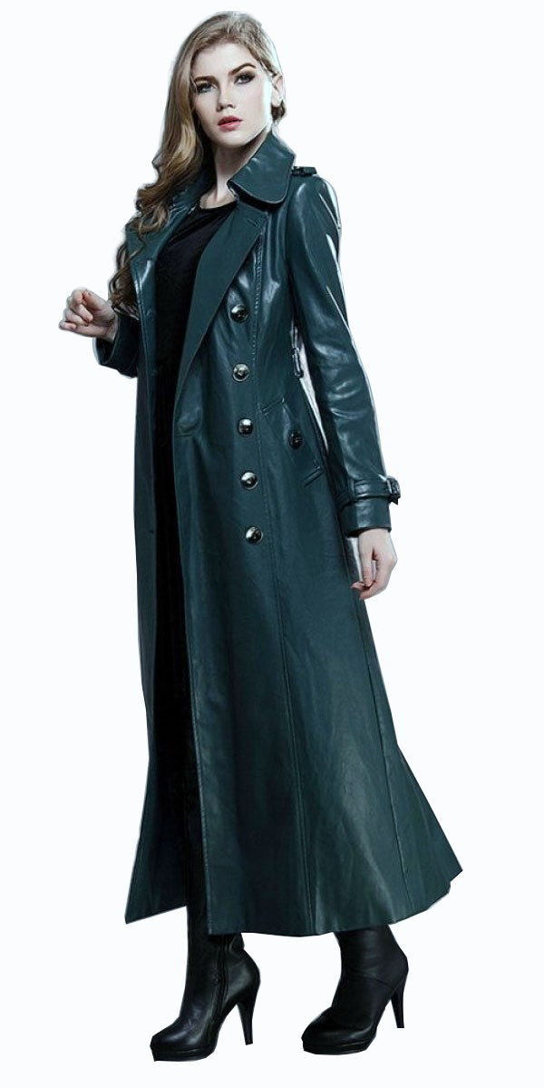 Green long coat