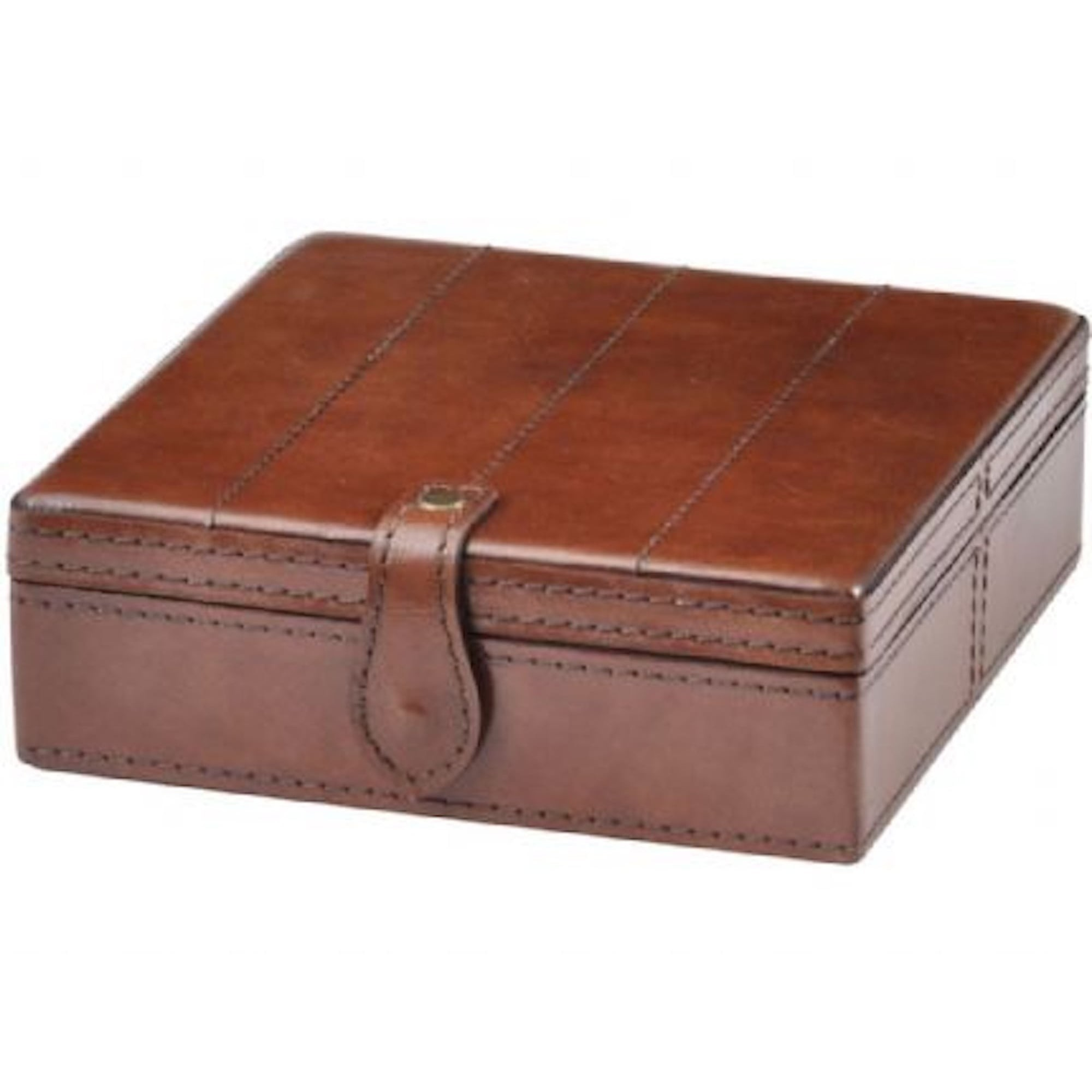 Maroon leather jewellery Box