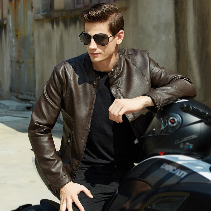 Slim fit aviator jacket