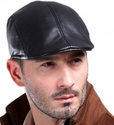 black cabbie cap