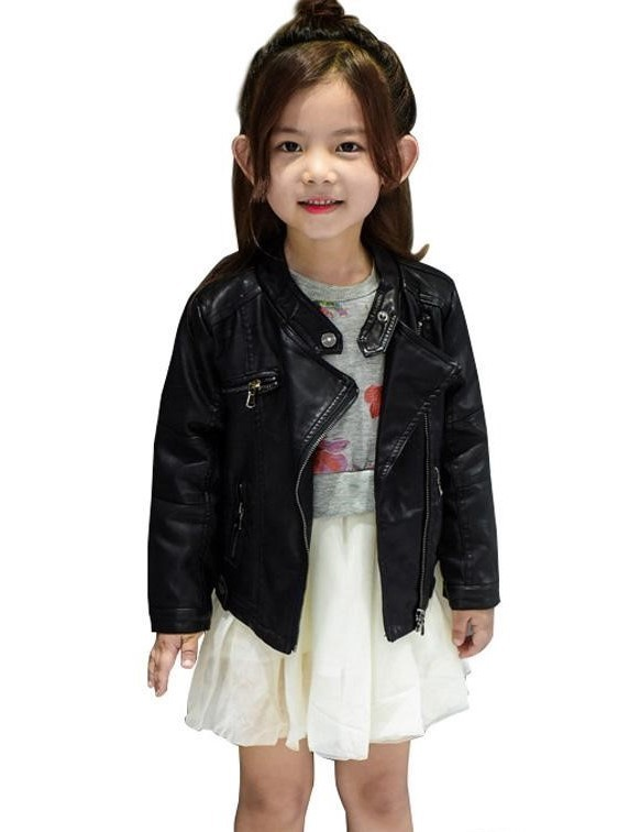 black stylish girl coat