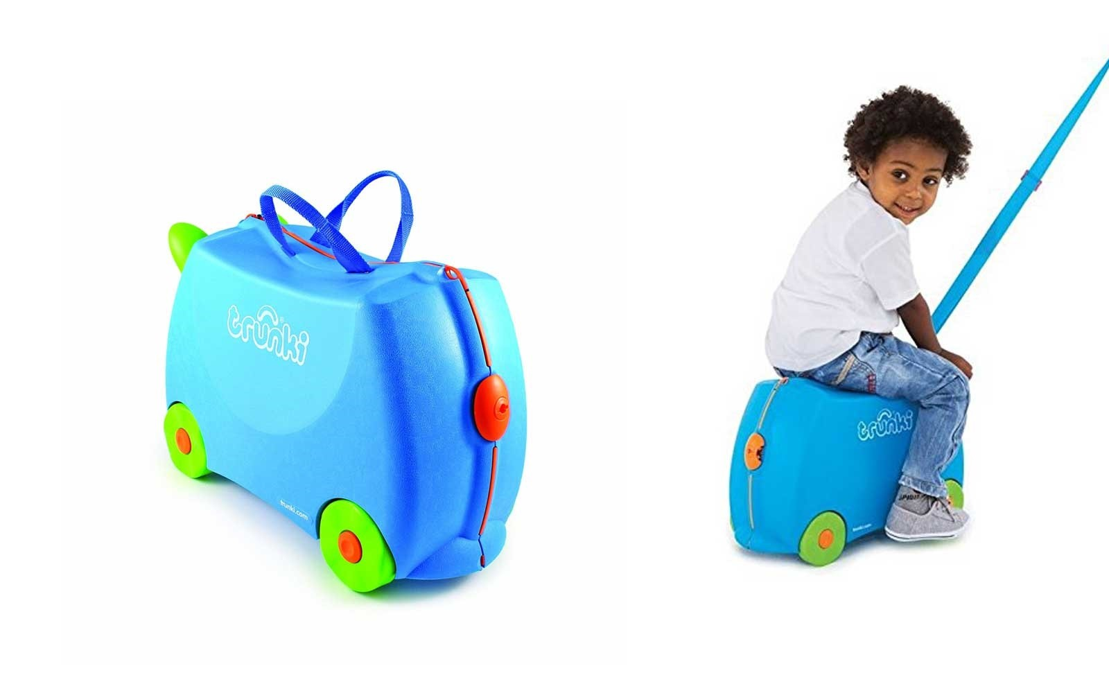 blue kids travel bag