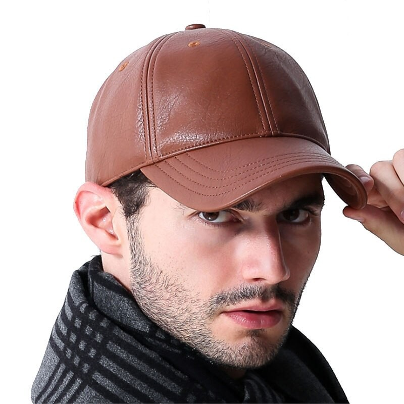 brown cabbie cap