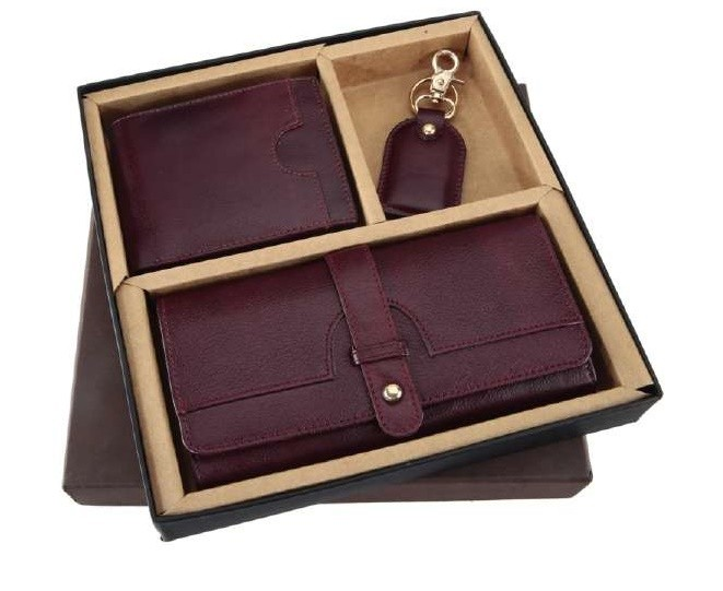 card holder keychain purse set