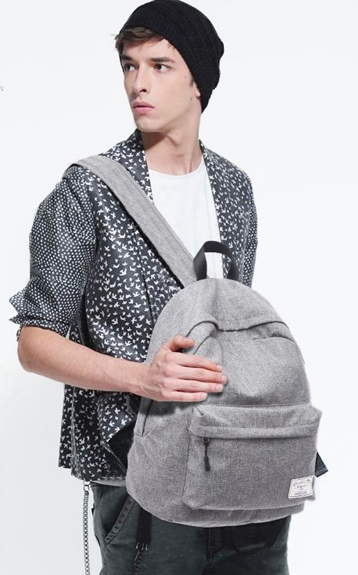 grey college bag