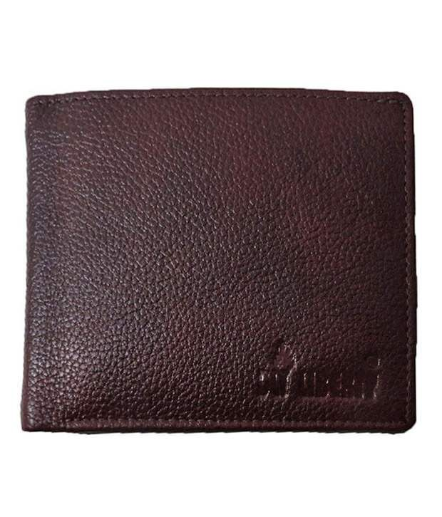 leather money bag darkbrown