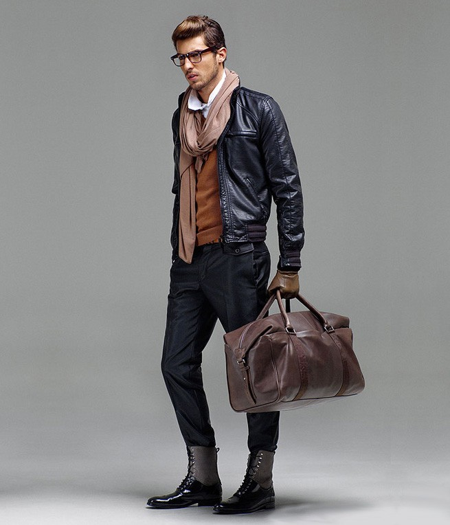 stylish jacket & travel bag combo